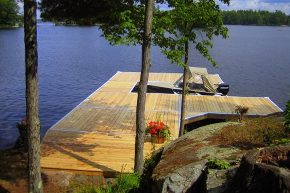 aluminum dock designs cottage docks for sale floating docks ontario. Black Bedroom Furniture Sets. Home Design Ideas