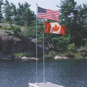 18' Fiberglass Flag Pole w/ CAD flag