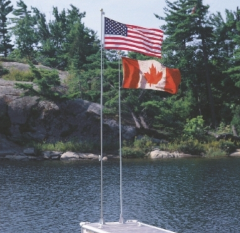 18′ Fiberglass Flag Pole w/ CAD flag