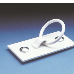"""Mooring Ring Cleat 3""""  [White]"""