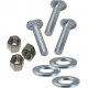 """8"""" Flip Up Cleat Hardware (Carriage Bolts)"""