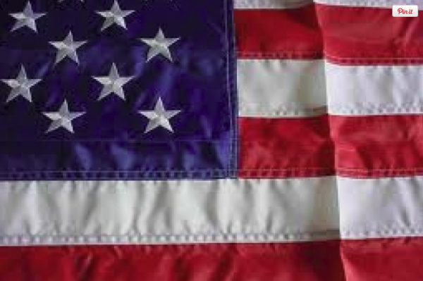 American Flag - 48_ x 72_ - Embroidered Nylon (50-399)