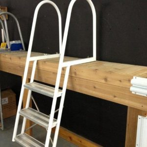 Angled Ladder 4 Step [Aluminum | White]
