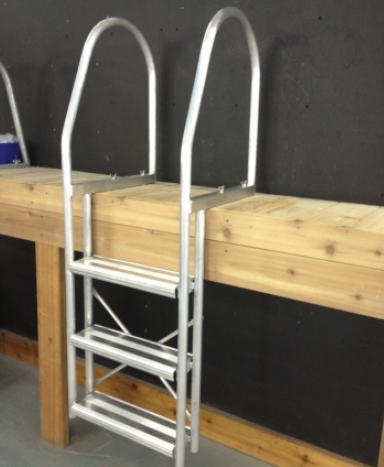 Fixed Aluminum Ladder - Grey - 3 Step(54-361) 4 Step(54-397) 5 Step(54-330) 1 of 2