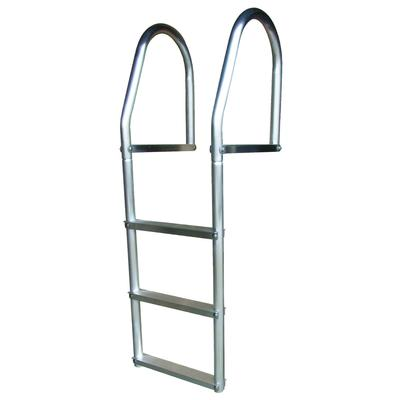Fixed Ladder -ECO2 Weld Free - Aluminum Grey - 3 Step (54-522) 4 Step (54-523) 5 Step (54-524)