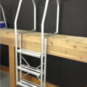Fixed Ladder 3 Step [Aluminum | White]