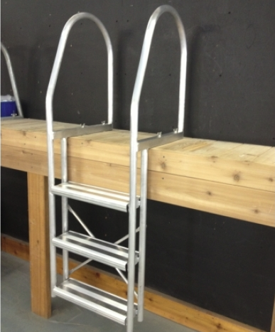 Fixed Ladder - White - 3 Step(54-525) 4 Step(54-526) 5 Step(54-527)