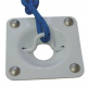 """Recessed Cleat 5 1/4"""" [Dock Edge  White]"""