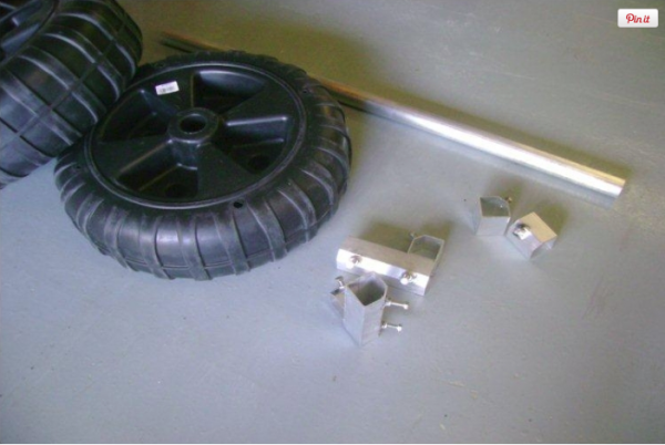 Wheel Kit for Pole Dock - 8' axle